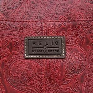 Relic Shoulder Purse - Deep Red **look**